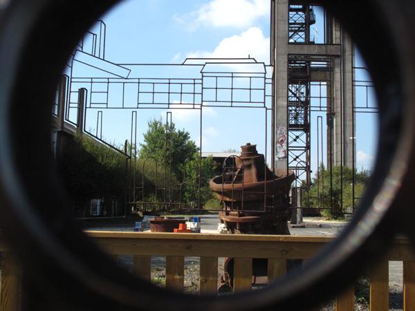 panneau n°1 du parcours d'interprétation du patrimoine minier réalisé par Ubinam